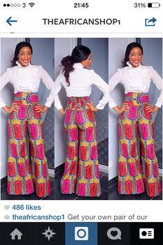 #Highwaisted #smartwear #smarttrousers #hipstertrousers #pink #africanprint #africantrousers #africanclothes