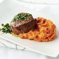 Petite Tenderloin with Chipotle Sweet Potatoes