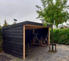 Backyard Storage Sheds, Backyard Sheds, Bike Storage, Shed Storage, Bike Shelter, Outdoor Kitchen Grill, Backyard Covered Patios, Firewood Shed, Carport Designs
