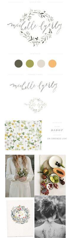 Green Michelle Lyerly Photography brand board || Lauren Ledbetter Design + Styling