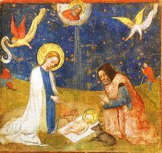 Stefan Lochner (German artist, 1400-1451) Adoration of the Child.
