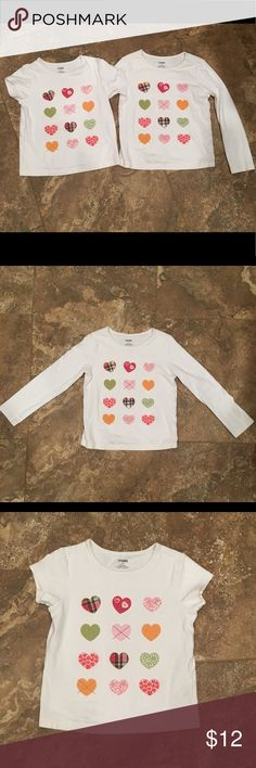 Gymboree girls size 8 hearts set of 3 Gymboree girls size 8 hearts short sleeve, long sleeve, and skort set of 3! With this set you can get the same adorable shirt both short sleeve and long sleeve and match it with the skort, so it can be worn year round! Gymboree Matching Sets