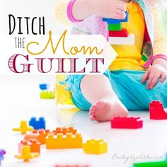 "Do you suffer from mom guilt? We're all imperfect according to our own standards. So maybe it's time to start redefining your definition of a ""good mom."" Ditch the Mom Guilt - from Time Out with Becky Kopitzke. Christian devotions, encouragement and advice for moms and wives."