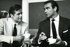 "jack lord, sean connery - on set of ""dr no"""