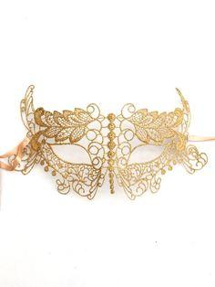 Gold Burano Lace Mask