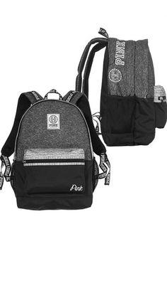 Wheretoget - Grey and black Pink by Victoria's Secret backpack