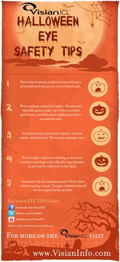 Halloween is just around the corner, follow these eye safety tips to insure a safety and fun holiday. - See more at: http://visianinfo.com/blog/page/2/#sthash.maDQFOuV.dpuf