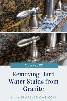 Deep Cleaning Tips, House Cleaning Tips, Cleaning Solutions, Cleaning Hacks, All You Need Is, How To Clean Granite, Hard Water Spots, Homemade Toilet Cleaner, Clean Baking Pans