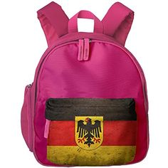 Luggage Tags Collections | German Flag With The German Eagle Kids Printed Backpack Shoulder School Bookbag With Front Pockets *** You can get additional details at the image link. Note:It is Affiliate Link to Amazon.