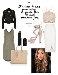 """""""Sans titre #63"""" by woodsenlikethis ❤ liked on Polyvore featuring Rimmel, River Island and Yves Saint Laurent"""
