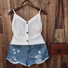 Off White, 36, Basic Tank Top, Ideias Fashion, Camisole Top, Tank Tops, Women, White Wood, Summer Beach Fashion