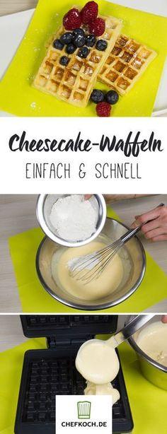 Cheesecake-Waffeln: Kuchen in Waffelform!