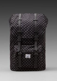 HERSCHEL SUPPLY CO. Little America Polka Dot in Black/ White - New