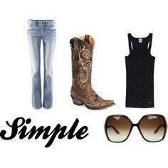 """""""Simple"""" by momchambers on Polyvore"""