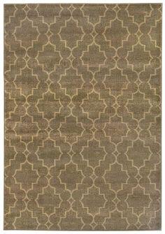 Casablanca Brown Geometric Lattice Area Rug | Wayfair
