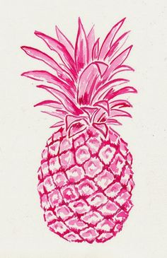 Pink Pineapple Art Print by Laura Dro Pineapple Art, Pinapple Decor, Pineapple Drawing, Pineapple Painting, Pineapple Wallpaper, Pineapple Pictures, Pineapple Tattoo, Iphone Wallpaper, Print Patterns