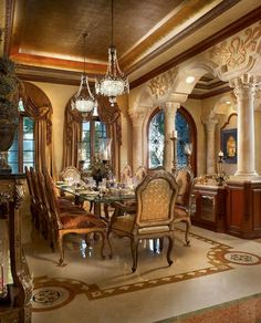 97 best extravagant dining rooms images lunch room dining room rh pinterest com extravagant dining room sets