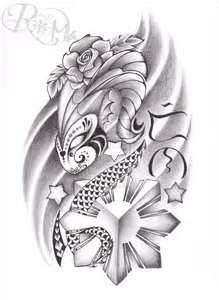 """My soon-to-be tattoo. This represents me, a capricorn who is part mexican and filipino. I put the Baybayin writing (original philippine writing also known as alibata) which means """"reyna (queen)"""". Mexican Tattoo, Filipino Tribal Tattoos, Tribal Tattoos For Women, Hawaiian Tribal Tattoos, Hawaiianisches Tattoo, Paar Tattoo, Maori Tattoos, Polynesian Tattoos, Tattoo Pics"""