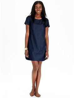 8e78de058db Womens Chambray Shift Dresses - I like the idea of this  reviews on Old Navy