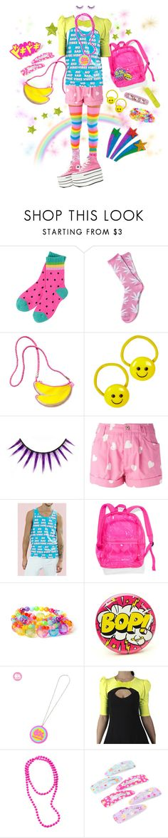"""""""Summer Decora"""" by tibtab ❤ liked on Polyvore featuring HUF, Converse, H&M, Moschino, Forever 21, Victoria's Secret PINK and claire's"""