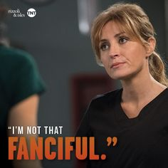 """Rizzoli&Isles Page Liked · April 4 ·   Jane: """"Did you make this stuff up because you know we can't check it? #MauraMonday #RizzoliandIsles"""
