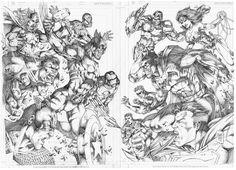 Double Page_Marvel vs DC by MARCIOABREU7 on DeviantArt