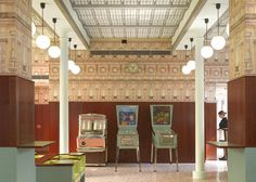 Filmmaker Wes Anderson has created a bar intended to recreate the atmosphere of Milanese cafes inside the OMA-designed Fondazione Prada in Milan