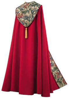 LARGE LEAVES TAPESTRY ON CRIMSON WITH VELVET PIPING COPE