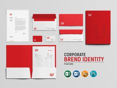 Design your business logo, invoice and full branding stationary identity by Becreatives Corporate Stationary, Stationary Branding, Corporate Identity Design, Branding Design, Identity Branding, Visual Identity, Business Logo, Business Card Design, Creative Business
