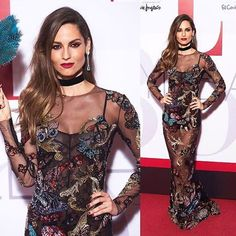 Taking our breath away for the second time this week, @ariadneartiles chooses to walk the red carpet of @elle_spain 's 30th anniversary party looking more flawless than ever in a long-sleeved sheer figure hugging dress showered with shimmering butterflies from #ZuhairMurad's #Fw1617 #rtw collection Styled by: @abrahamgutierrez #Happy30Elle