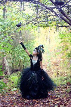 Black Tutu Dress/ Black Dress/ Black Feather by LoveTutuCouture