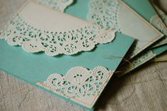 Doily Cards by paperdaystudio : Art Wall, via Flickr