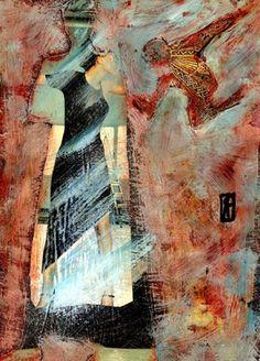 """Saatchi Online Artist Cris Acqua; Mixed Media, """"50-CRIS ACQUA Collagemania"""" #art http://www.saatchionline.com/art-collection/Mixed-Media-Assemblage-Collage-Painting/CRIS-ACQUA-Collagemania/45144/9750/view"""