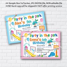 Playground birthday invitation kids park swings by miprincess playground birthday invitation kids park swings by miprincess invitation pinterest birthday invitations kids invitations kids and playground filmwisefo Gallery