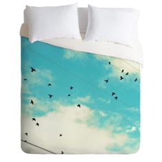 Shannon Clark Blue Skies Ahead Duvet Cover   DENY Designs Home Accessories