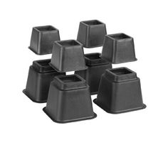 Simplify Bed Risers/Bed Lifters Wheel - Bedding Accessories for All Types of Furniture - Black - Pack of or College Dorm Storage, Dorm Room Storage, College Dorm Rooms, Dorm Organization, Closet Storage, Furniture Risers, Types Of Furniture, Bedroom Furniture, Large Storage Bins