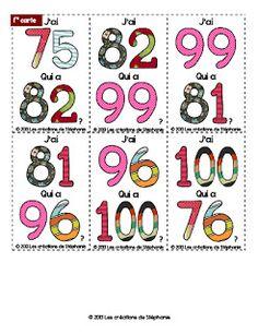 Les créations de Stéphanie: Mathématiques génial la version 75 à 100