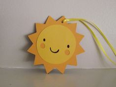 SUN Favor Tags - set of 6 -Happy Birthday, Baby Shower decor, you are my sunshine, sunshine birthday, girl birthday, boy birthday,. $5.50, via Etsy.