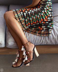 Tory Burch Weaver Tassel Sandal