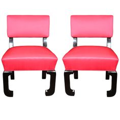 Pair of Chinese Modern occasional chairs by James Mont