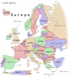 Mapas de Europa para imprimir | laclasedeptdemontse Germany, Africa, Europe, Google, Maps, Social Science, Deutsch