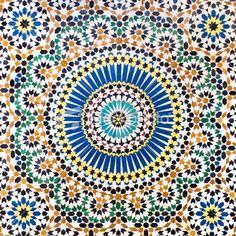 Traditional Moroccan Mosaic tiled wall Royalty Free Stock Photo