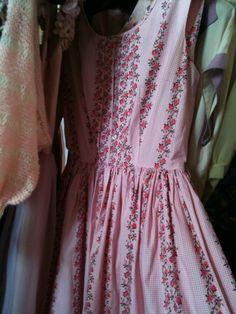pink floral dirndl