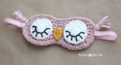 Crochet Sleepy Owl Mask Pattern