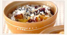【干し芋ご飯】いつものサツマイモご飯とは、また違った食感と味わいに驚くはず! Acai Bowl, Chili, Cereal, Soup, Pudding, Breakfast, Desserts, Acai Berry Bowl, Morning Coffee