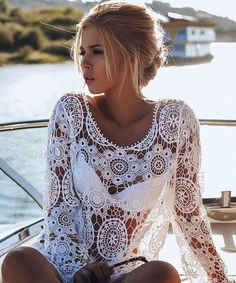 #summer #style / lace cover-up