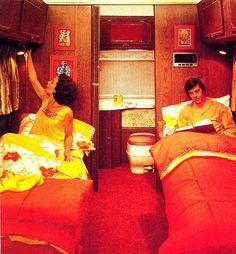 A motor home holiday, 1974.