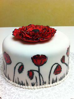 ... birthday cake on Pinterest  Poppy cake, Red poppies and Birthday