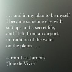 new poetry from Lisa Jarnot read an excerpt here