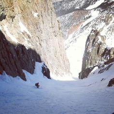 """Chuting"" turkeys in the San Juans!  Skier: Brittany Konsella  PC: Frank Konsella  #14erskiers @lekiusa @blackdiamond @patagonia @intuitionliners @smithoptics @tecnicaskiboots @backcountryaccess #hshive #honeystinger #skilikeagirl #ski #skiing #iskicolorado #skicolorado #bcskicolorado #backcountry #backcountryskiing #sanjuans #couloir #couloirs #couloirskiing"